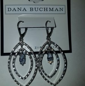 Fashion statement silver and crystal earrings